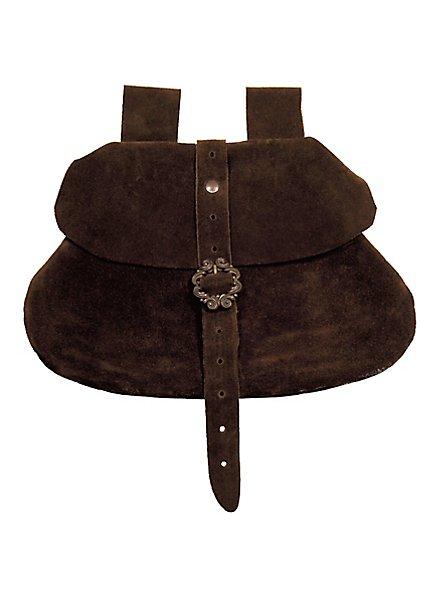 Sacoche de ceinture en daim marron