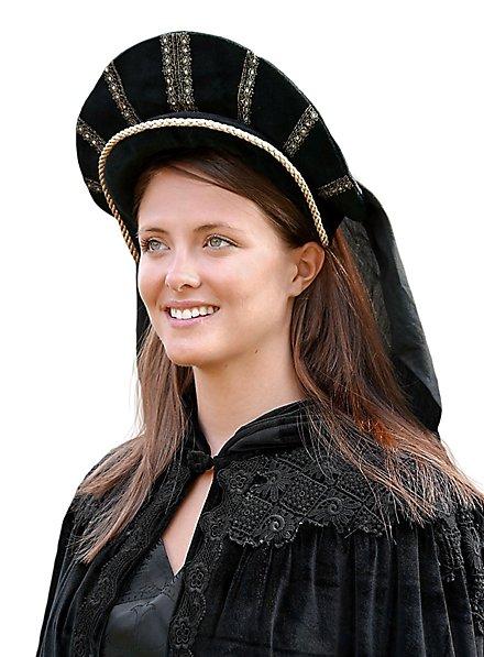 Tudorhaube mit Schleier