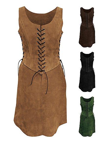 Virgin Warrior Suede Surcoat dark brown