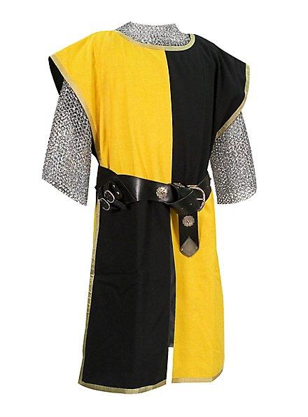 Waffenrock Ritter schwarz-gelb
