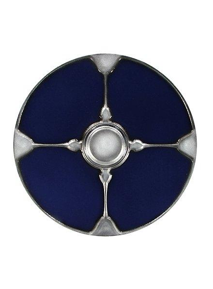 Wikinger Rundschild blau Polsterwaffe