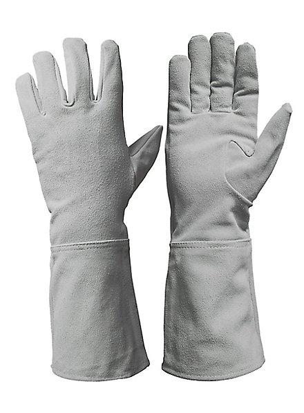 Wildlederhandschuhe weiß