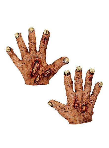 Zombieklauen rot kurz aus Latex