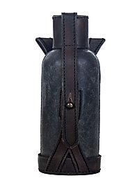 Bottle with leather covering