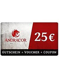 Andracor Gift Voucher 25,- €