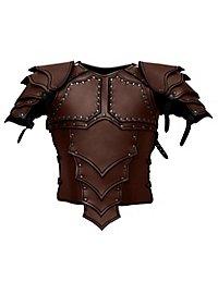 Armure de monteur de dragon en cuir marron