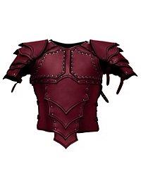 Armure de monteur de dragon en cuir rouge