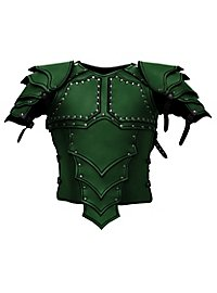 Armure de monteur de dragon en cuir vert