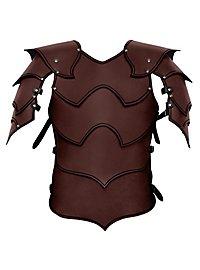 Armure de seigneur de guerre en cuir marron