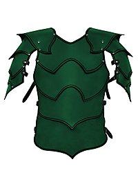 Armure de seigneur de guerre en cuir vert