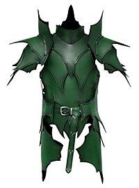 Armure d'elfe noir avec tassettes en cuir vert