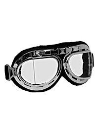 Aviator goggles in chrome