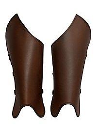 Beinschienen - Bandit braun