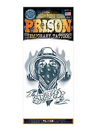 Bandit Knast Klebe-Tattoo
