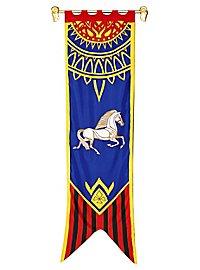 Bannière de Rohan bleue Seigneur des Anneaux