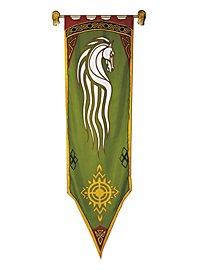 Bannière de Rohan verte - Seigneur des anneaux