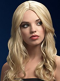 Beach Waves wig blond, parting in the middle
