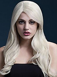 Beach Waves wig blond, side parting