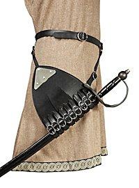 Belt with multi strapped left handed sword hanger