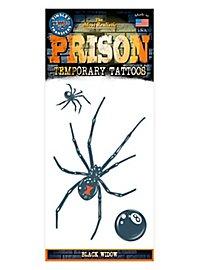 Black Widow Temporary Prison Tattoo