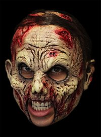 Blutiger Untoter Deluxe Kinnlose Maske