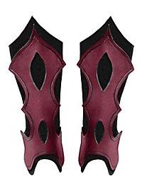Beinschienen - Bogenschütze rot