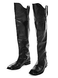 Bottes de la cavalerie des États-Unis en cuir noir