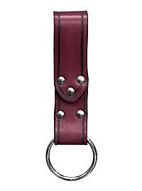 Boucle de ceinture rouge avec anneau