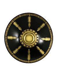 Bouclier rond doré deluxe - Ancient