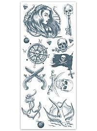 Buccaneer Pirate Temporary Tattoo Kit