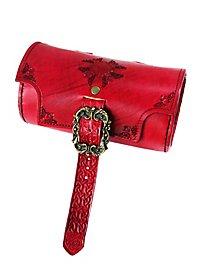 Sac cylindre de guerrier celte rouge