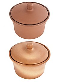 Can with lid from clay - 0,6 l