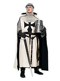 Cape de chevalier noire et blanche