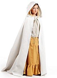 Cape médiévale blanche pour enfant