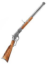 Carabine «Winchester» argentée Arme décorative
