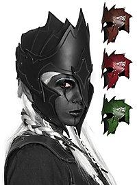 Casque en cuir - Elfe noir