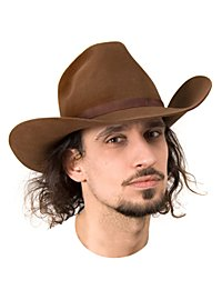 Chapeau texan marron