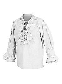 Chemise à volants Renaissance blanche