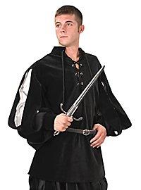 Chemise de chevalier noire et argentée