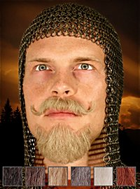 Chevalier Composition de barbe professionnelle en poils véritables
