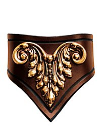 Collier de noble en cuir marron