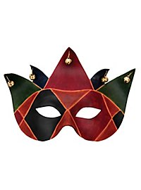 Colombina Joker Venezianische Ledermaske