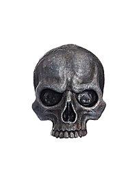 Crâne décoratif en résine (petit / métallique)