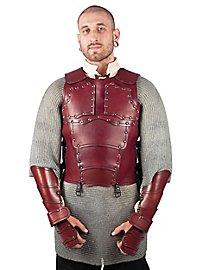 Cuirasse en cuir - Mercenaire (rouge)