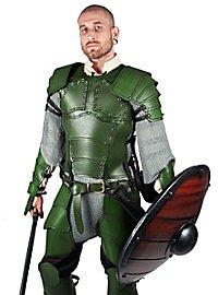 Cuirasse en cuir vert de mercenaire