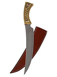 Curved dagger with brass handle - B-Ware