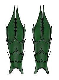 Beinschienen - Dämon grün