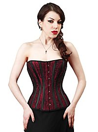 Damask Corset Paisley red & black