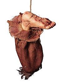 Décoration d'Halloween Pied ensanglanté dans un sac