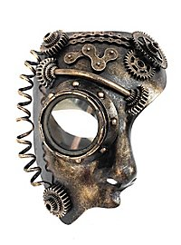 Demi-masque d'androïde steampunk